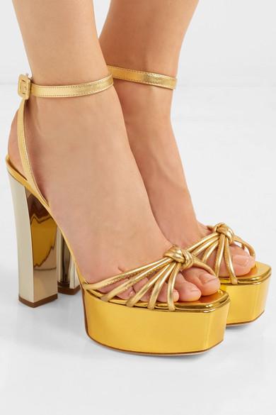 a23a6e6d4a8 Giuseppe Zanotti. Lavinia metallic leather platform sandals