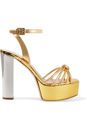 Giuseppe Zanotti Lavinia metallic leather platform sandals