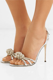 Mistico crystal-embellished metallic leather sandals