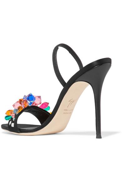 Sandales à Brides En Satin à Cristaux Mistico - NoirGiuseppe Zanotti 4pCWoxDV