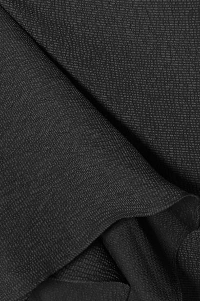 Halston Heritage Zweifarbige Robe aus Cloqué mit asymmetrischer Schulterpartie