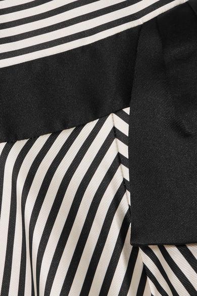 Spielraum Vorbestellung Kostenloser Versand Halston Heritage Ärmellose Robe aus gestreifter Faille Spielraum Großer Rabatt Verkauf Geschäft x9e1djr