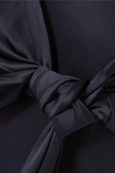 Hellessy Morten Hose mit schmalem Bein und Knotendetail aus Satin Günstiger Preis Auslass Verkauf Billig Verkauf Extrem Freies Verschiffen Erschwinglich 100% Garantiert Yvg3LI