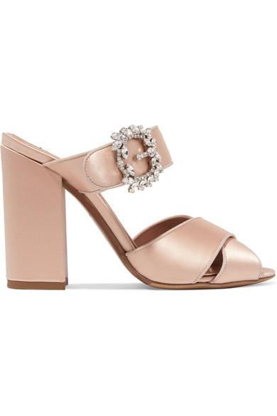 outlet pay with visa free shipping best place Tabitha Simmons Embellished Satin Sandals GqUt039oQ