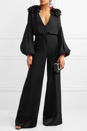 0e3ea0ca48e Johanna Ortiz Ruffled silk-blend chiffon bodysuit