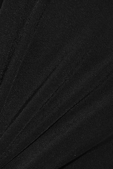Johanna Ortiz Body aus glänzendem Jersey mit Cut-out und Twist-Detail