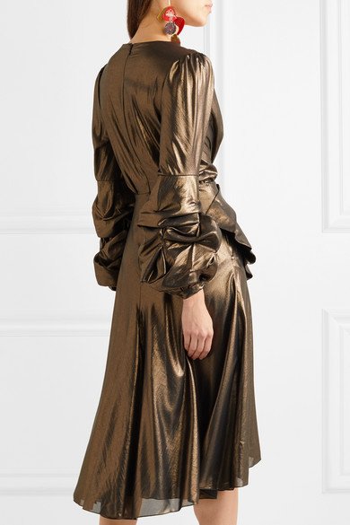Johanna Ortiz Kleid aus Lamé mit Schleife