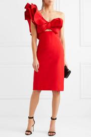 c3f77313a81 Johanna Ortiz One-shoulder silk-faille dress