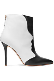 Camille two-tone leather ankle boots
