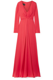 Giorgio Armani Gathered silk-georgette gown
