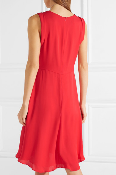 Gathered Silk-chiffon Dress - IT48 Giorgio Armani oeGCMh