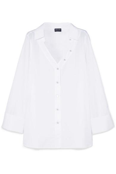 Giorgio Armani Hemd aus Baumwollpopeline