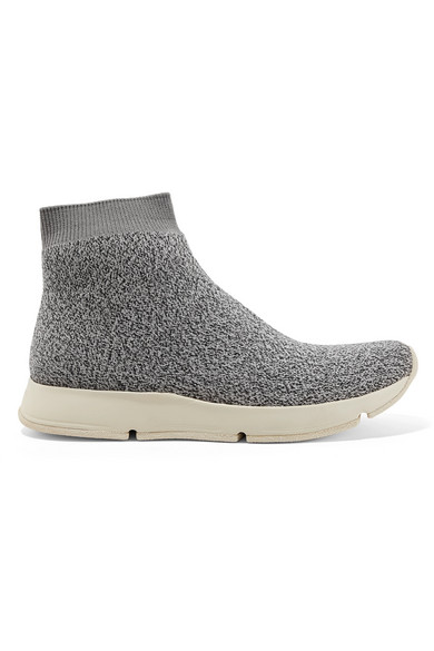 Vince Women S Tyra High Top Stretch Sock Sneakers Gray