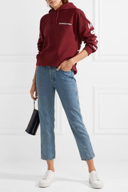 The Rigid Fellow  cropped high-rise straight-leg jeans