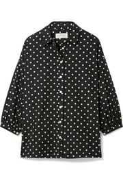 The Easy Button Up polka-dot cotton-poplin shirt