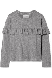 The Great The Ruffle stretch-jersey top