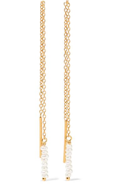 Gold-plated Diamond Earrings - One size Chan Luu udCusL0p