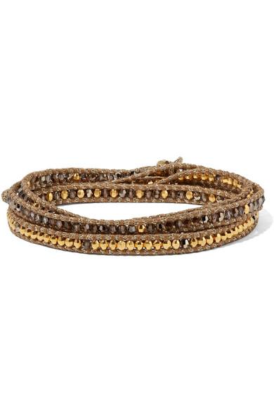 Rose Gold And Silver-tone Multi-stone Wrap Bracelet - one size Chan Luu L6qx4cy