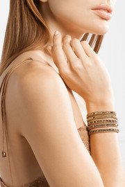 Gold-plated crystal wrap bracelet