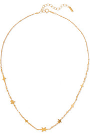 Chan Luu Gold-plated, Swarovski crystal and bead necklace