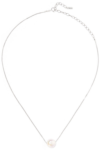 Chan Luu - Sterling Silver Pearl Necklace