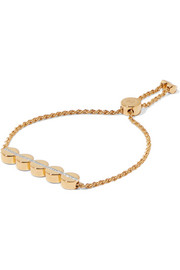 Monica Vinader Linear Bead gold vermeil diamond bracelet
