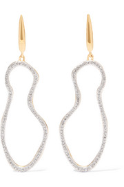 Monica Vinader Riva Pod gold vermeil diamond earrings