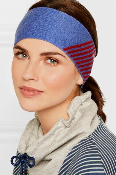 Striped Merino Wool Blend Headband by Lndr