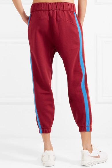 LNDR Mischief Jogginghose aus Stretch-Baumwoll-Jersey mit Streifen