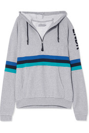 Antics cotton-jersey hooded top