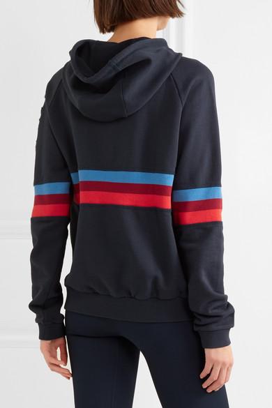 LNDR Antics Kapuzen-Sweatshirt aus Baumwoll-Jersey mit Streifen