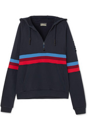 Antics striped cotton-jersey hooded sweatshirt