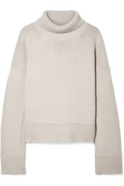 Jaquee oversized merino wool-blend turtleneck sweater