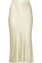By Malene Birger Kimberley satin midi skirt