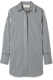 Isadora oversized striped cotton-blend shirt