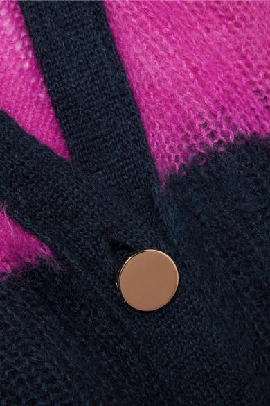 Versace Gestreifter Oversized-Cardigan aus strukturiertem Strick