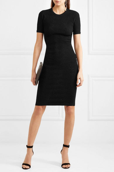 Versace Kleid aus Jacquard-Strick