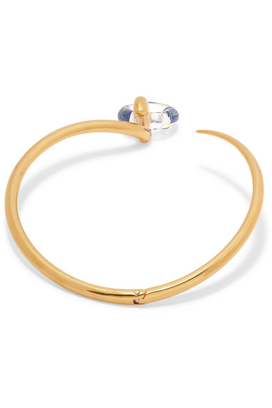 Swing Gold Vermeil And Glass Choker - one size Charlotte Chesnais iSIID