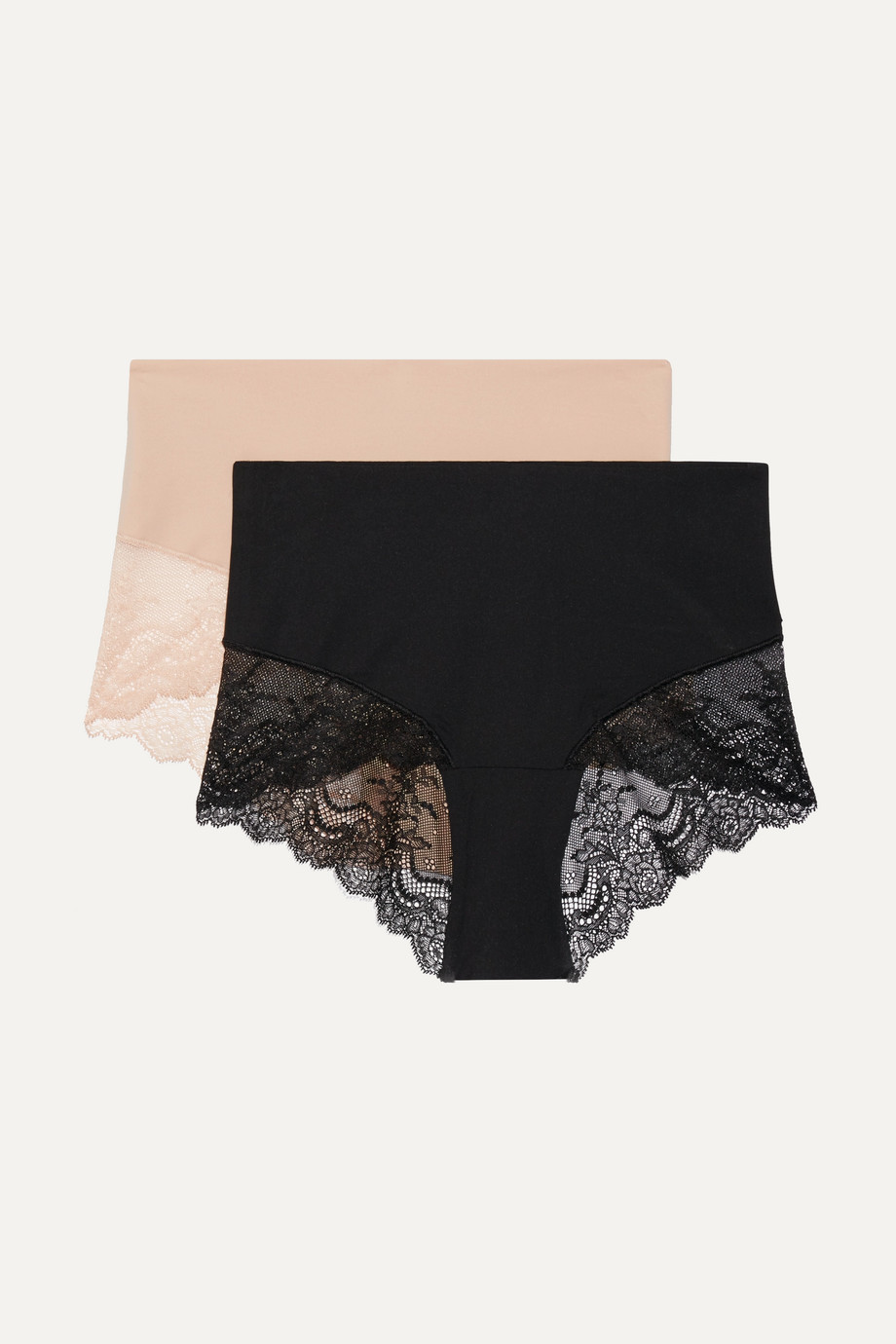 Spanx Undie-tectable set of two stretch-jersey and lace briefs