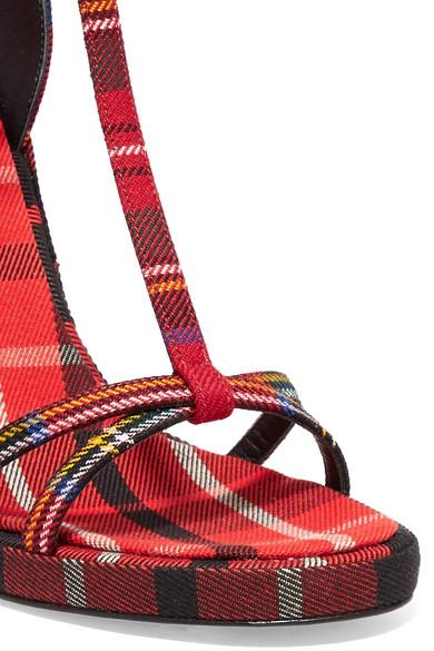 Burberry Sandalen aus Woll-Canvas mit Tartan-Muster Genießen Online-Verkauf XVGghA5OgT