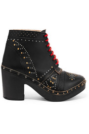 Burberry Studded leather ankle boots