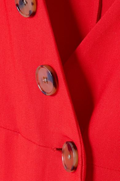 Khaite Christy Midikleid aus Piqué mit Knopfdetails