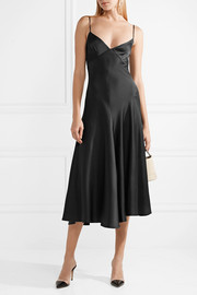 Carolina satin-crepe midi dress