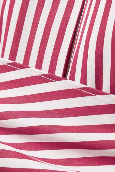 Niedriger Versandverkauf Online Khaite Bianca gestreiftes Hemd aus Baumwollpopeline mit Bindedetail Sammlungen Günstig Kaufen Bestellen Beste Angebote PVRX6