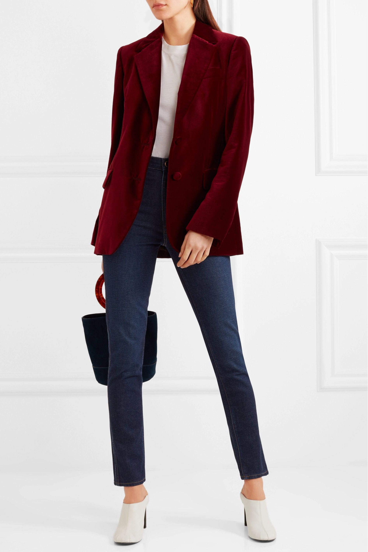 Khaite Vanessa high-rise straight-leg jeans