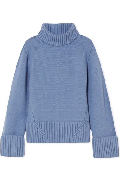 KHAITE Wallis Cashmere Turtleneck Sweater in Light Blue | ModeSens