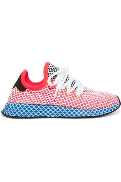 Deerupt Runner Suede-trimmed Mesh Sneakers - White adidas Originals DsyVeH5