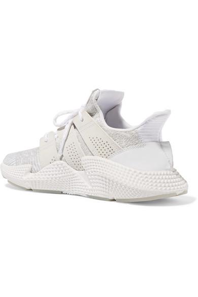 adidas Originals Prophere Sneakers aus Stretch-Strick mit Besätzen aus Kunstleder und Gummi