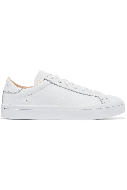 White Court Vantage textured-leather