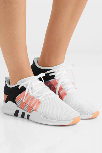 66f37cb59bf312 adidas Originals. EQT Racing ADV faux suede-trimmed stretch-knit and neoprene  sneakers
